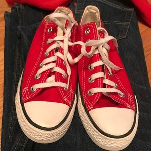 NWOT: Red Converse sneakers women's size 7